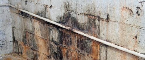 Kelderlekkage in muur
